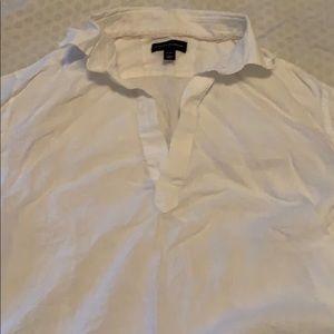 White banana republic linen shirt.